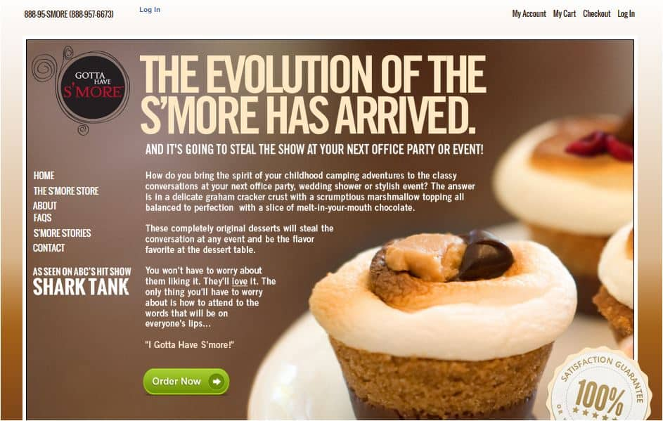 Gotta Have Smore website homepage